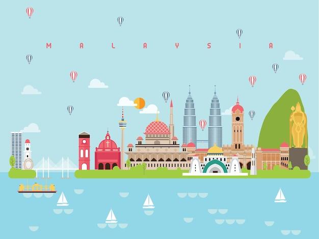 Malasia famosos monumentos infográficos