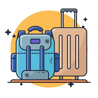 Maleta y bolsa de vacaciones