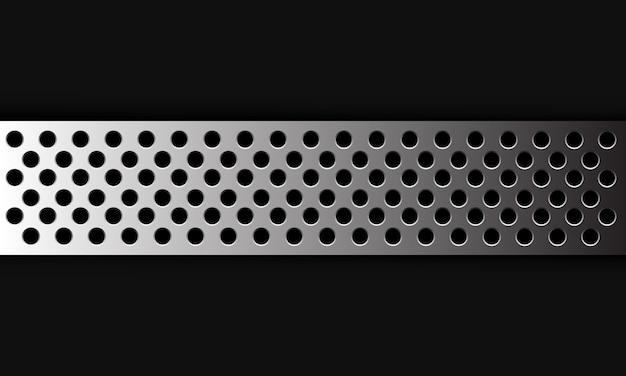 La malla del círculo de plata del fondo abstracto se superpone en la ilustración futurista moderna gris oscuro.