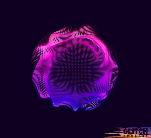 Malla colorida abstracta sobre fondo oscuro