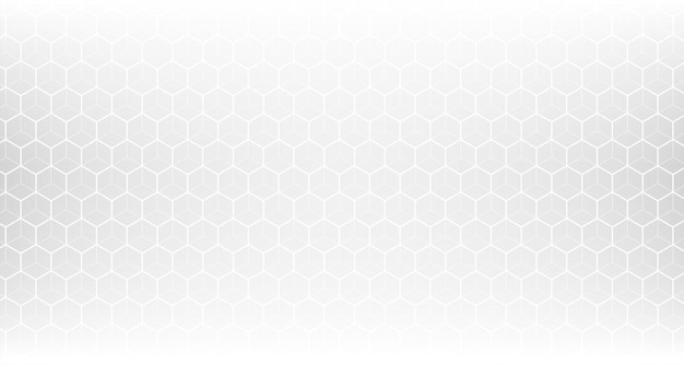 Malla de patrón hexagonal blanco limpio