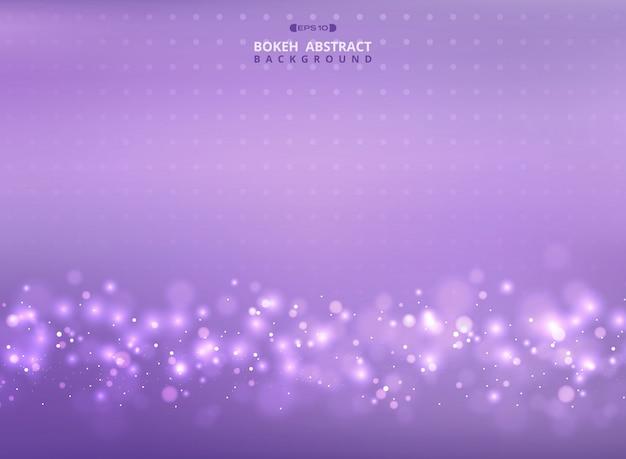 Malla violeta de colores con fondo de patrón bokeh