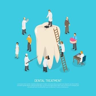 Malos dientes tratamiento ilustración