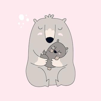 Mamá oso y bebé oso