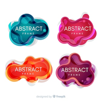 Mancha abstracta colección de cuadros