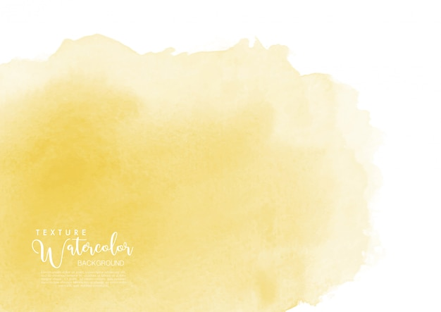 Mancha amarilla de fondo de textura de acuarela