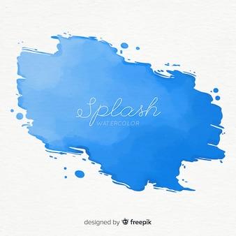 Mancha azul de acuarela