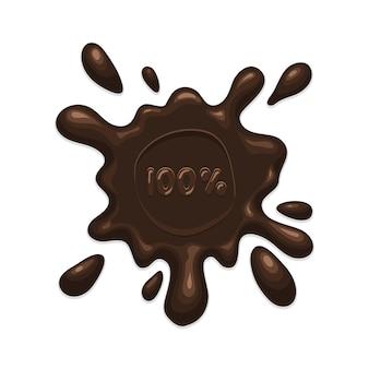 Mancha de chocolate splash