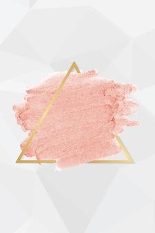 Mancha de lápiz labial rosa