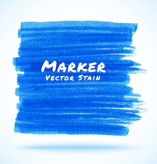 Mancha de marcador azul,