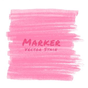 Mancha de marcador rosa