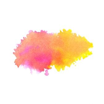 Mancha de salpicaduras de acuarela abstracta