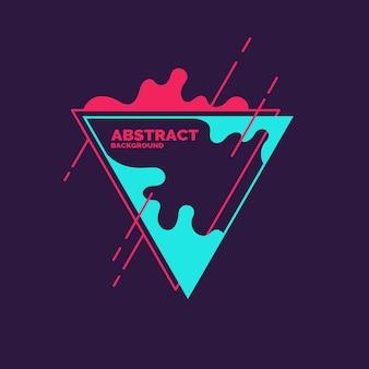 Manchas abstractas y formas geométricas sobre un fondo. ilustración vectorial