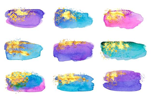Manchas de acuarela pintadas a mano