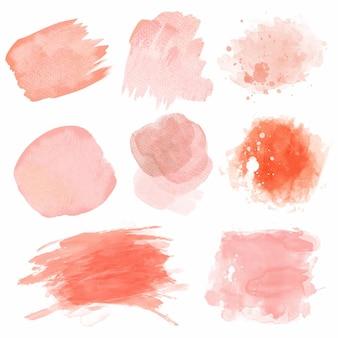Manchas de acuarela rosa abstracta