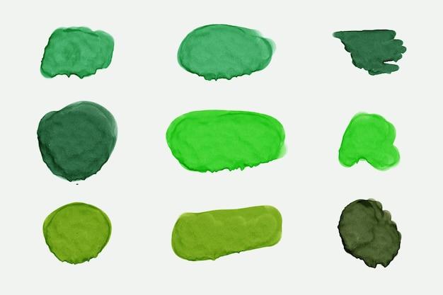 Manchas de acuarela verde abstracta