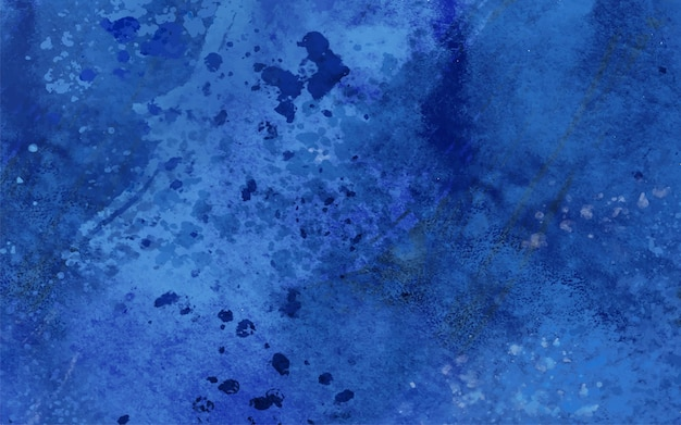 Manchas azules y gotas en acuarela.