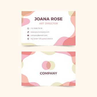 Manchas de color pastel en plantilla de tarjeta de visita