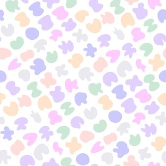 Manchas de colores pastel de patrones sin fisuras infantiles suaves lindas manchas abstractas delicadas dulces
