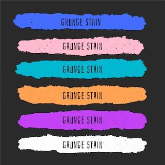 Manchas de pintura colorida en estilo grunge