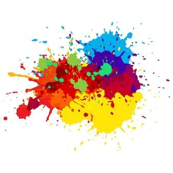 Manchas de pintura coloridas