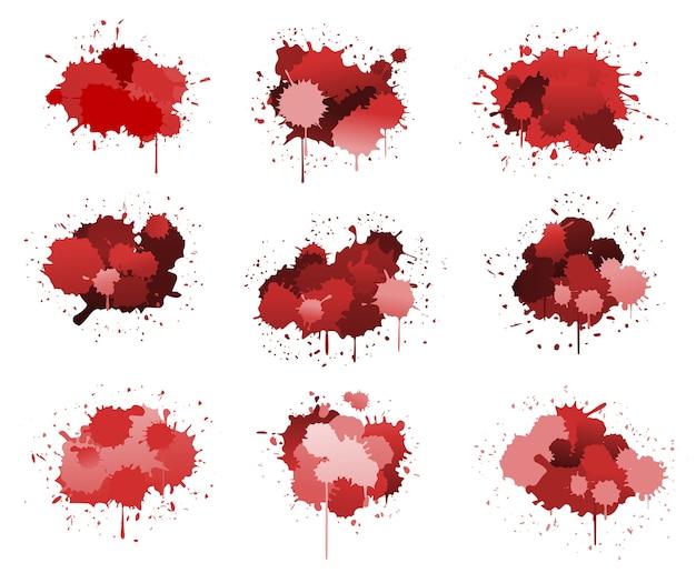 Manchas de tinta roja