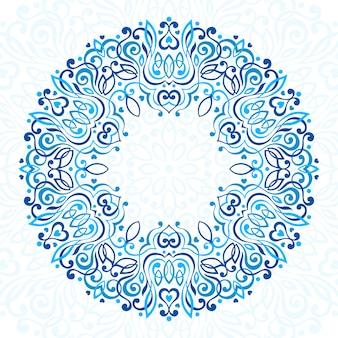 Mandala adornada abstracta.