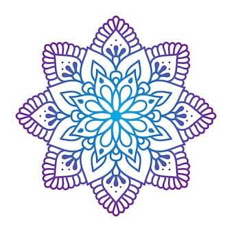 Mandala de adorno oriental