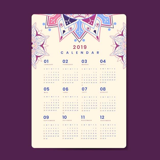 Mandala calendario maqueta