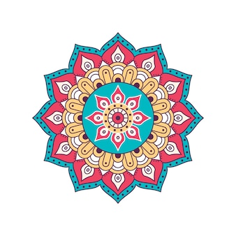 Mandala de color vectorial