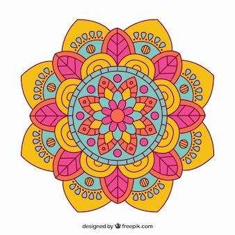Mandala con colores