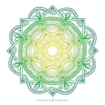 Mandala colorido con ornamentos