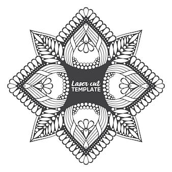 Mandala de corte por láser