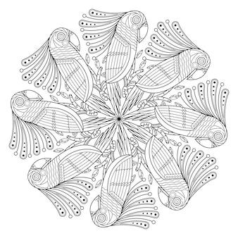 Mandala de pájaro