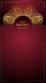 Mandala decorativa de oro