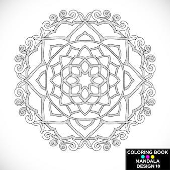 Mandala decorativo negro para colorear