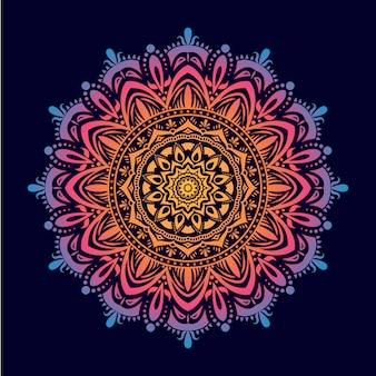 Mandala colorido con formas ornamentales descargar for Formas ornamentales