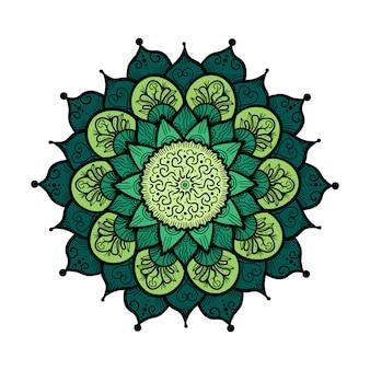 Mandala dibujado a mano en estilo de decoración de cultura árabe, india, islam y otomana