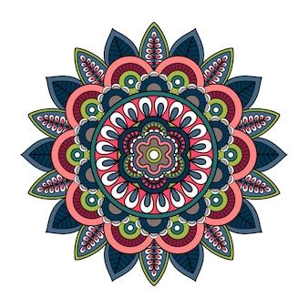 Mandala dibujado a mano con el islam