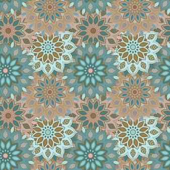Mandala dibujado a mano de patrones sin fisuras