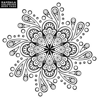Mandala con diseño abstracto