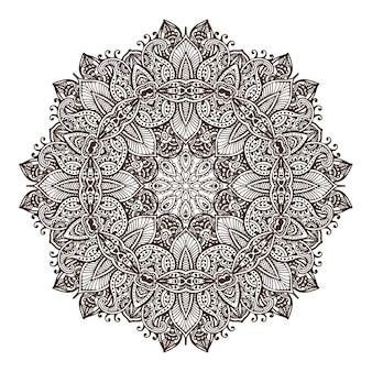 Mandala de diseño de encaje redondo abstracto, elemento decorativo