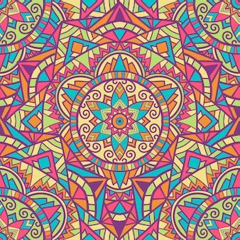 Mandala diseño de patrones sin fisuras para la impresión. ornamento tribal.