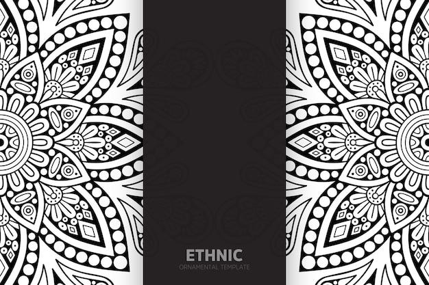 Mandala de diseño semless de patrón étnico tribal