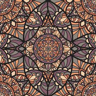 Mandala de diseño vectorial para impresión.