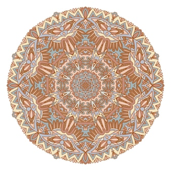 Mandala de doodle dibujado a mano de vector. medallón étnico con adorno gráfico doodle.