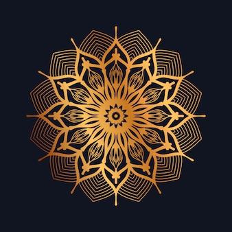 Mandala dorada de lujo