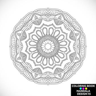 Mandala elegante negro para colorear