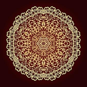 Mandala elemento decorativo étnico islam, árabe, indio, motivos otomanos.