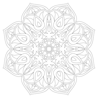 Mandala elementos decorativos étnicos. fondo dibujado a mano. islam, árabe, indio, motivos otomanos. símbolo mandala monocromo